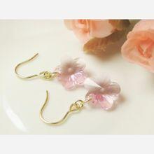 *P154* スワロフスキー☆桜のピアス